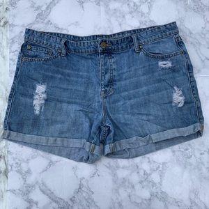 GAP Distressed Boyfriend Jean Shorts